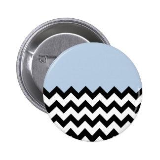 Azul-Cielo-En-Negro-y-Blanco-Zigzag-Modelo Pins