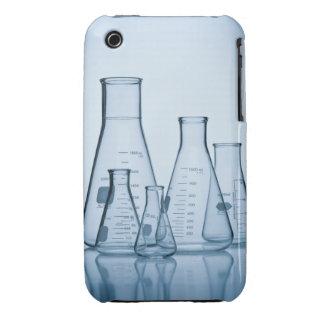 Azul científico de la cristalería iPhone 3 cobertura