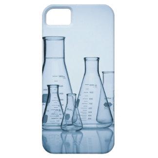 Azul científico de la cristalería iPhone 5 funda