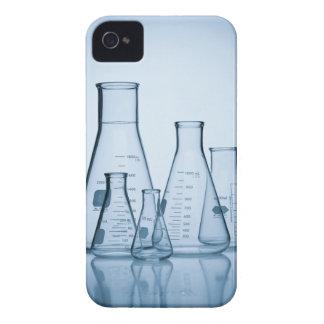 Azul científico de la cristalería iPhone 4 fundas