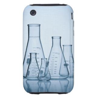 Azul científico de la cristalería tough iPhone 3 protector