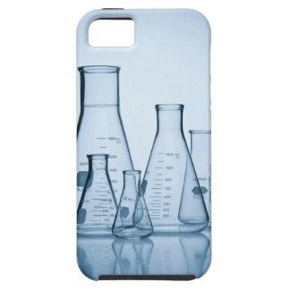 Azul científico de la cristalería iPhone 5 fundas