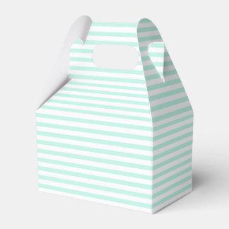 Azul claro - caja blanca del favor de la raya caja para regalo de boda