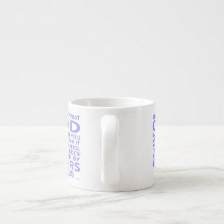 Azul claro dado dios de Tomás de Aquino Taza De Espresso