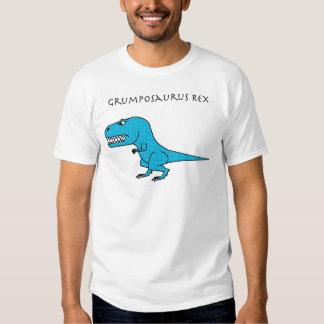 Azul claro de Grumposaurus Rex texturizado Playeras