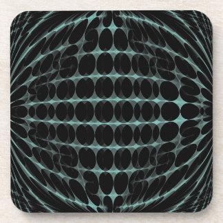 Azul claro en el práctico de costa abstracto negro posavasos