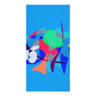 Azul claro ideal abstracto tarjetas personales