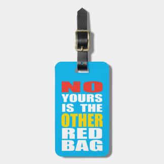 Azul claro la otra etiqueta roja del equipaje del  etiquetas para maletas