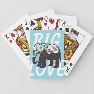 Azul claro lindo elegante del diseño del elefante baraja de póquer