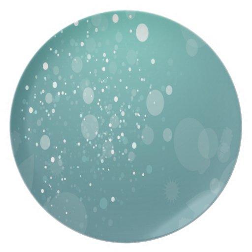 Azul claro lindo plato