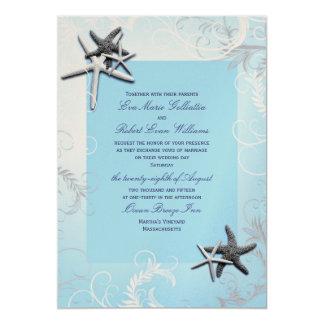 """Azul claro """"protagonizando"""" la invitación del boda"""