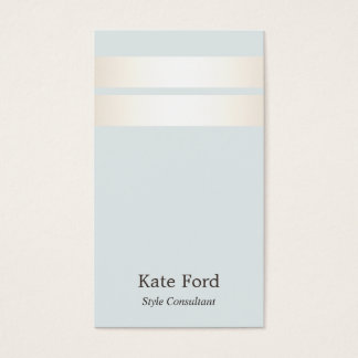 Azul claro rayado del falso oro elegante elegante tarjeta de negocios