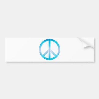 Azul claro texturizada del símbolo de paz etiqueta de parachoque