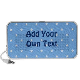 Azul claro y blanco. Modelo de estrella iPod Altavoces