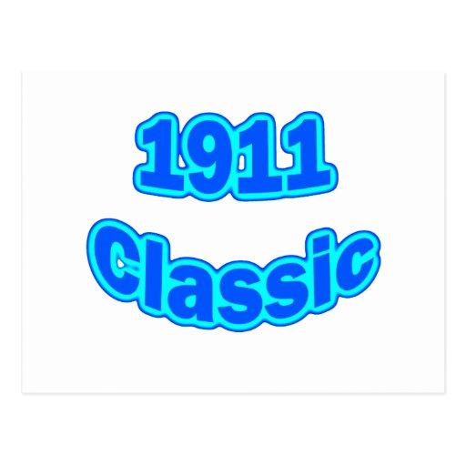 Azul clásico 1911 tarjeta postal