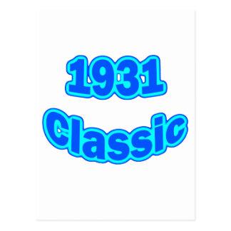 Azul clásico 1931 postal