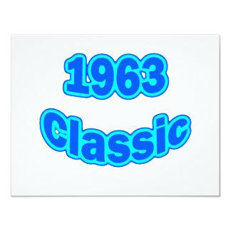 """Azul clásico 1963 invitación 4.25"""" x 5.5"""""""