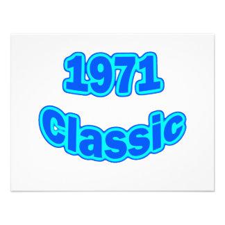 Azul clásico 1971 comunicados personalizados