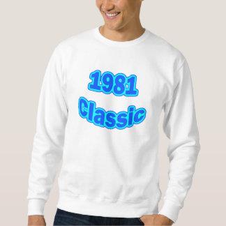 Azul clásico 1981 sudadera