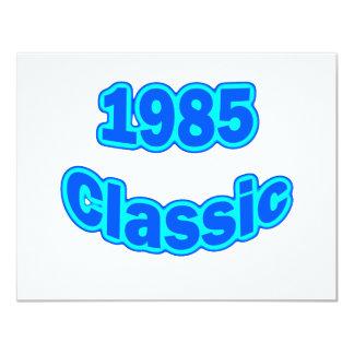 """Azul clásico 1985 invitación 4.25"""" x 5.5"""""""