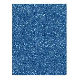 Azul clásico de PANTONE con falso brillo Postales
