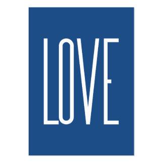 Azul clásico del amor tarjetas de visita grandes