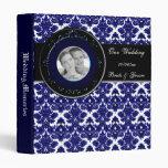 Azul clásico del damasco (boda)