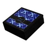 Azul clásico del damasco cajas de regalo