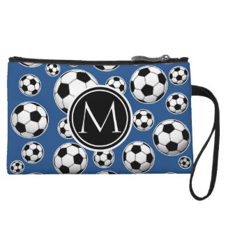 Azul clásico del modelo del balón de fútbol