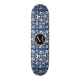 Azul clásico del modelo del balón de fútbol skate board