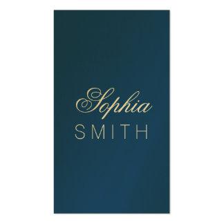 Azul clásico elegante - incorpore su nombre tarjetas de visita