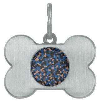Azul clásico - modelo del camuflaje de la piedra placas de mascota
