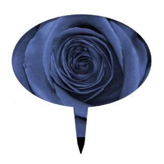 ¡Azul coloreado subió magnífico Decoración Para Tarta