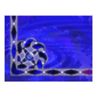 Azul como la impresión de la foto del mar