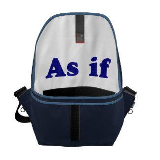 Azul como si bolsa de mensajería
