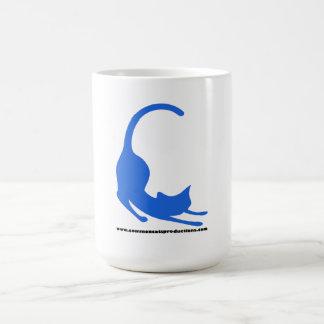 Azul común del logotipo de los gatos tazas de café