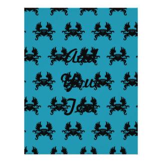 Azul con alas del negro del escudo de la corona tarjetones