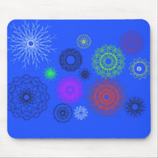 azul con diverso modelo mouse pad