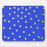 Azul con las estrellas de color verde amarillo tapete de raton