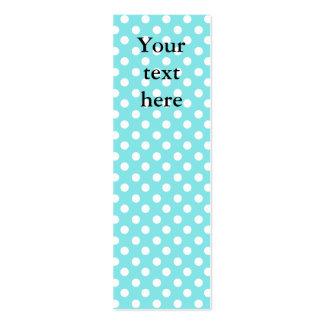 Azul con los polkadots blancos plantilla de tarjeta de visita