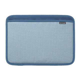 Azul con los puntos blancos simples fundas para macbook air