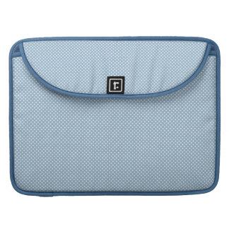 Azul con los puntos blancos simples funda macbook pro