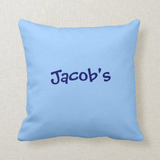 Azul conocido personalizado del bígaro de la almoh almohada