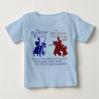 Azul contra caballero rojo playeras