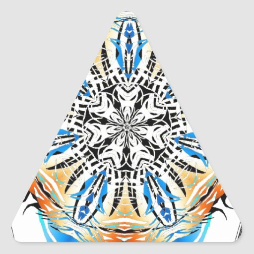 azul contra tribal amarillo calcomania triangulo personalizadas