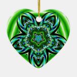 Azul contra verde ornamentos de navidad