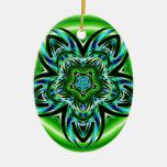 Azul contra verde ornamentos de reyes