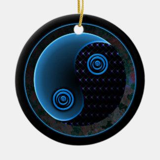 Azul cósmico en equilibrio Yin Yang Ornamento Para Reyes Magos