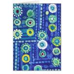 Azul creativo tarjeta de felicitación