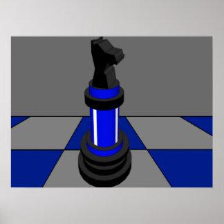 Azul CricketDiane del tablero de ajedrez del cabal Impresiones